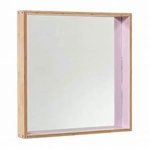 Miroir Cadre Bois : miroir cadre bois carr rose ~ Teatrodelosmanantiales.com Idées de Décoration