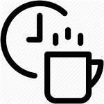 Break Icon Tea Clock Cup Refreshment Icons