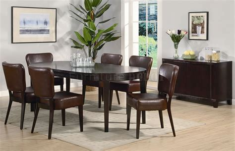 intercon mission casuals oval dining table set with