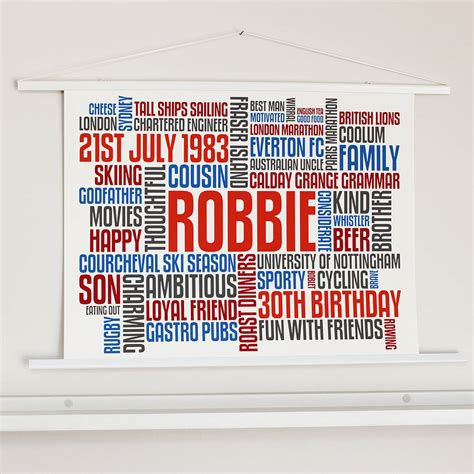 personalised birthday typographic words artwork by more than words notonthehighstreet com