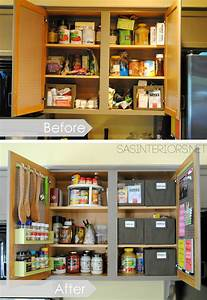 Kitchen organization ideas for the inside of the cabinet for Kitchen cabinet organization tips