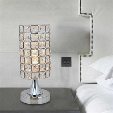 bedroom table lamps contemporary modern lustres crystal table lamp bed bedroom table light 14438   modern Lustres crystal table lamp bed bedroom table light living room bedside lamp study light lamp