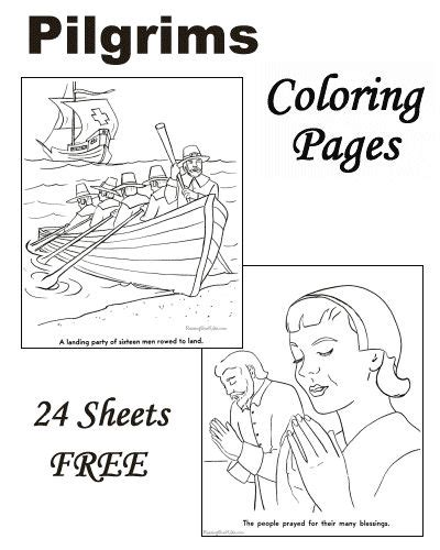Thanksgiving Pilgrim Coloring Pages