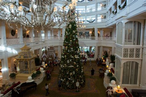 grand floridian christmas tree christmastime at disney s grand floridian resort spa