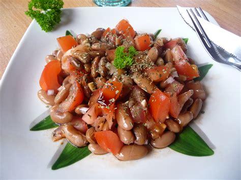 comment cuisiner lentilles salade de haricots borlotti tomate et balsamique au fil