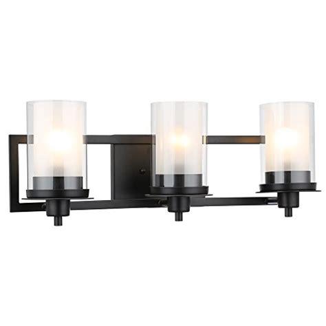 Black Bathroom Light Fixtures by Designers Impressions Juno Matte Black 3 Light Wall Sconce