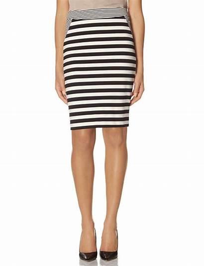 Skirt Pencil Striped Horizontal Limited Lookastic Ponte