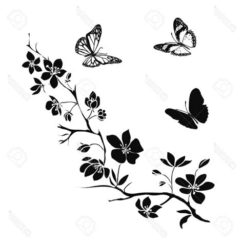 Tatouage Papillon Arabesque  Dessin Tatouage