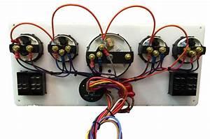 Black Yanmar Marine Instrument Panel With 4 Rocker Switches  Black Gauges 16 U2033 X 7 U2033  U2013 Ac Dc
