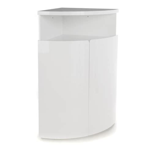 New Corner Buffet D'angle Haut Blanc Laqué  Achat Vente
