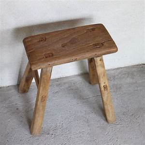 Tabouret Bois Brut : tabouret ancien bois brut naturel rectangle 47 49 5 cm h ~ Teatrodelosmanantiales.com Idées de Décoration