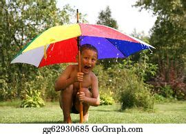 stock photography child   rain stock photo