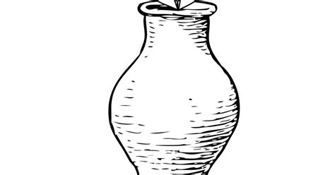 mewarnai gambar vas bunga