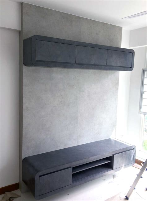 console living room hdb 4 room package renovation contractor singapore