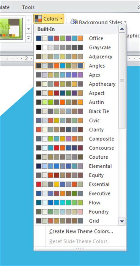 create color schemes  powerpoint  match