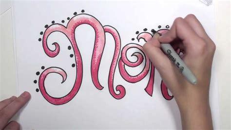 draw graffiti letters mom mlt youtube