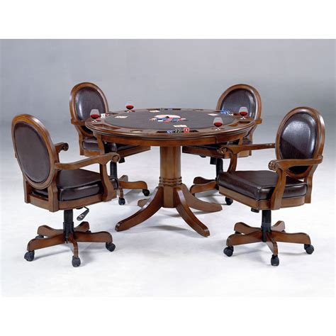 game table sets with chairs warrington round game table with 4 leather game chairs