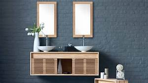 Meuble Pour Petite Salle De Bain : comment agrandir visuellement une petite salle de bains ~ Premium-room.com Idées de Décoration