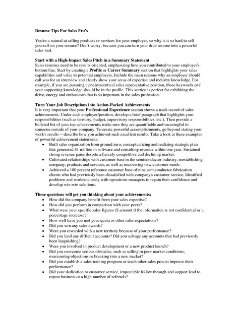 resume summary statement sles 28 images resume exle 47