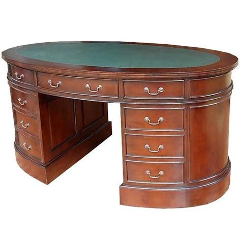 bureau de style bureau ovale style anglais acajou massif witton meuble de