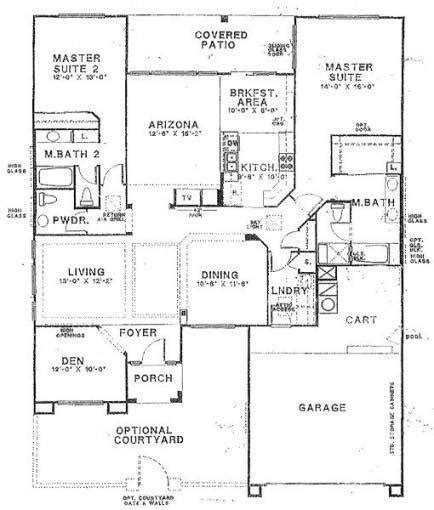 house with 2 master bedrooms house building plans with two master bedrooms large
