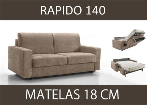 canape convertible rapido 3 places canape lit 3 places master convertible ouverture rapido 140 cm microfibre ecru matelas 18 cm