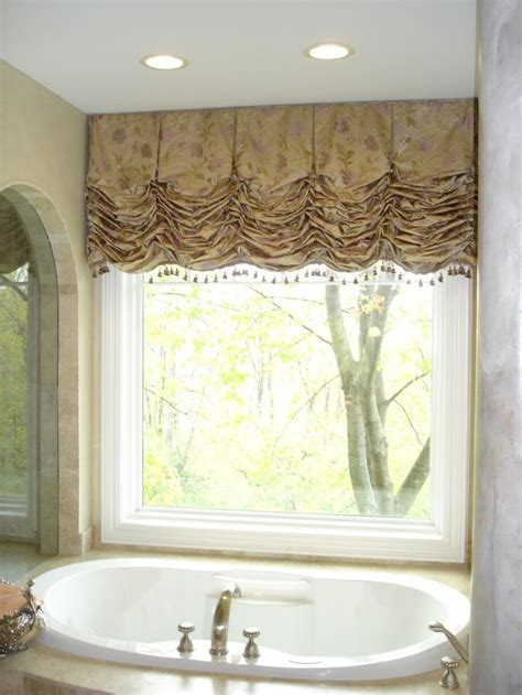 bedroom elegant balloon curtains  windows  white