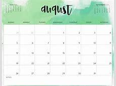 Free August 2018 Editable Printable Calendar November
