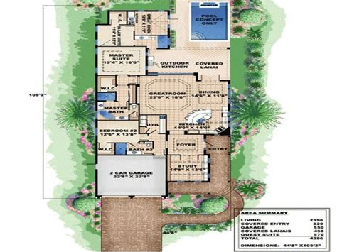 home plans narrow lot very narrow lot house plans plan w66295we narrow lot cottage florida beach house plans