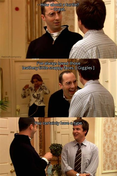Arrested Development Memes - arrested development s3 buster s type leathery little snappy faces tv interview quotes