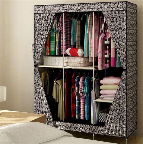 new reinforced large portable closet folding clothes