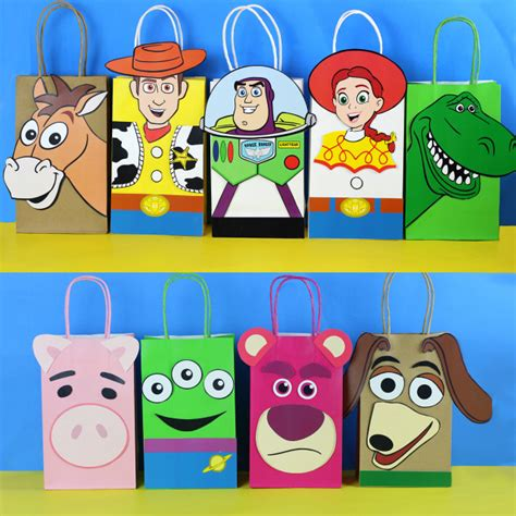 Toy Story Party Bag Template by Toy Story Favor Bags