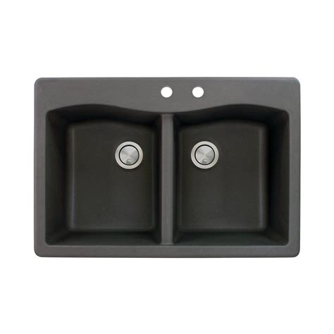 pics of kitchen sinks transolid aversa drop in granite 33 in 2 equal 4182