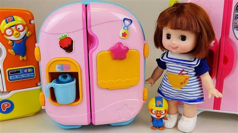 Baby Doll Refrigerator And Food Toys Play Youtube