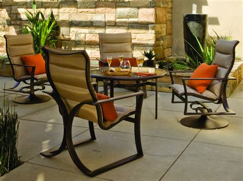 Garden Oasis Patio Furniture Customer Service reflections padded sling dining patio furniture tropitone
