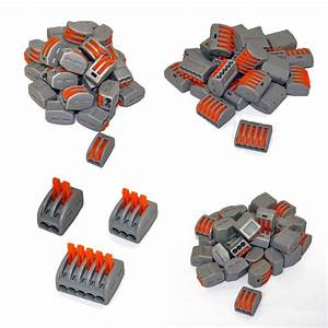 Reusable Spring Lever Terminal Block Electric Cable Wire