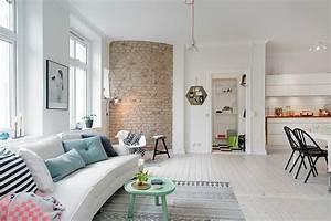 Deco Mur Interieur Moderne : apartamento n rdico menos es m s ~ Teatrodelosmanantiales.com Idées de Décoration