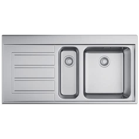 kitchen sink 1 5 bowl franke epos eox 651 stainless steel 1 5 bowl kitchen inset 5613