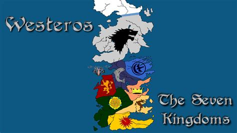 Game Thrones Seven Kingdoms Map Divisions