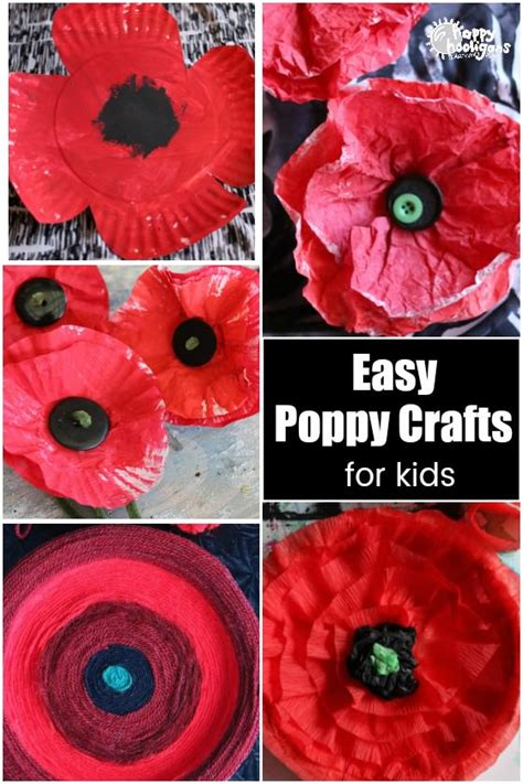 easy poppy crafts  veterans day  remembrance day