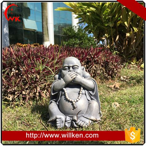 Garden Decoration For Sale by Home Outdoor Garden Decoration Fiber Buddha Statue For Sale