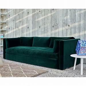 Canapé Velours Vert : canape velour vert ~ Teatrodelosmanantiales.com Idées de Décoration