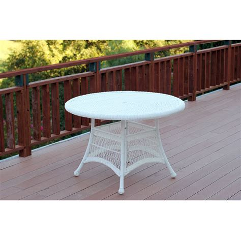 resin outdoor dining table outdoor 44 quot resin wicker round patio dining table by jeco