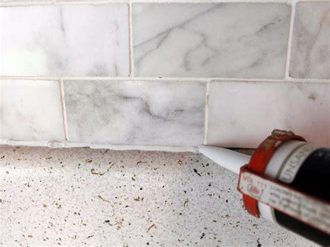 Caulking Kitchen Backsplash by How To Install A Marble Tile Backsplash Hgtv