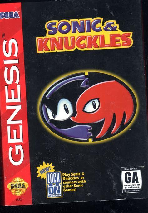 Sonic Knuckles Sega Genesis Game