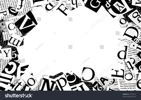 background for letters letters cut newspaper background stock photo 77343112