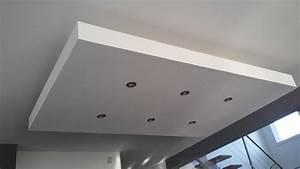 Bricolage de l39idee a la realisation plafond descendu for Salle de bain design avec plaque décorative plafond