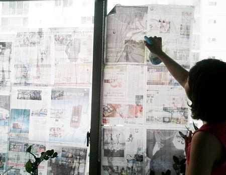 wet newspapers protect windows  winds