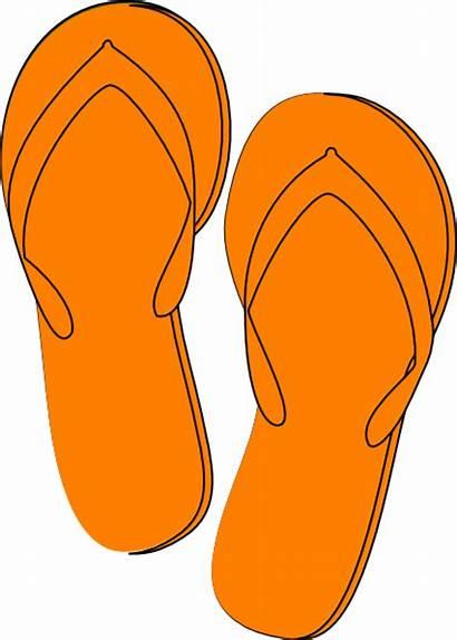 Orange Flip Clipart Flop Clip Flops Things
