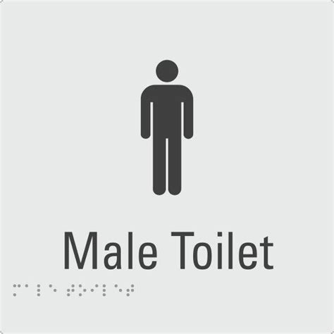 male toilet australian safety signs